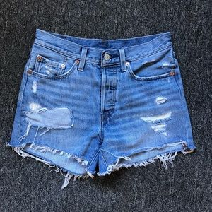 Levi's Cutoff Jean Shorts - 100% Cotton